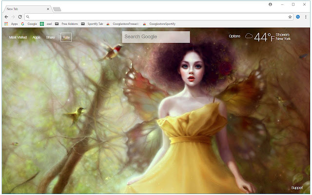 Fairy HD Wallpapers Fairies New Tab Themes