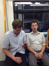 Photo: Paul and Gabe (Haley Group) on the subway