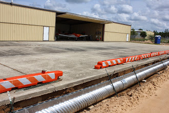 """Photo: Pelham said it was his understanding the hold up on new hanger progress had to do with pipes meeting """"code""""."""