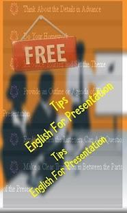 Tips English For Presentation - náhled