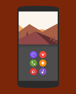 Naxos Flat Round Icon Pack- screenshot thumbnail