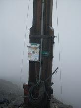 Photo: Schesaplana (2965 m), Gipfelkreuz und Gipfelbuch