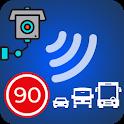Speed camera map :Radar detector & speedometer icon