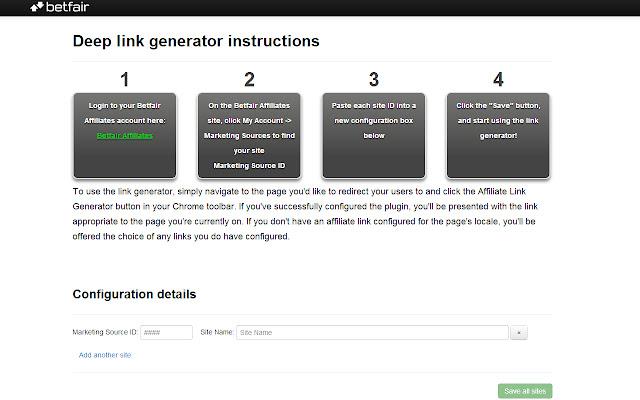 Betfair Affiliate Deep Link Generator