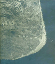 Photo: Cape Canaveral, around 1960.  The road system is the beginning of the 'space race'.  Some of the land features visible in this photo are now obliterated by heavy growths of Brazilian peppers (an invasive plant that has really taken over the cape).