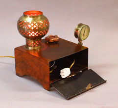 Photo: steampunk desk lamp and phone charger