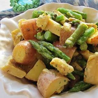 Red Potato, Asparagus, and Artichoke Salad.