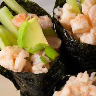Spicy Shrimp Hand Roll Sushi Filling.