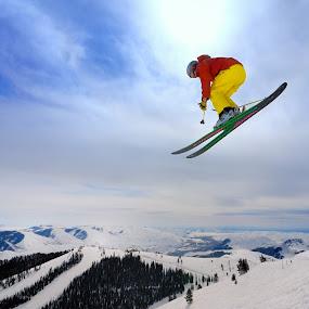 Skiing in Sun Valley Idaho by Tory Taglio - Sports & Fitness Snow Sports ( baldy, pwcwintersports, ski resort, powder, ketchum, sun valley, skier )