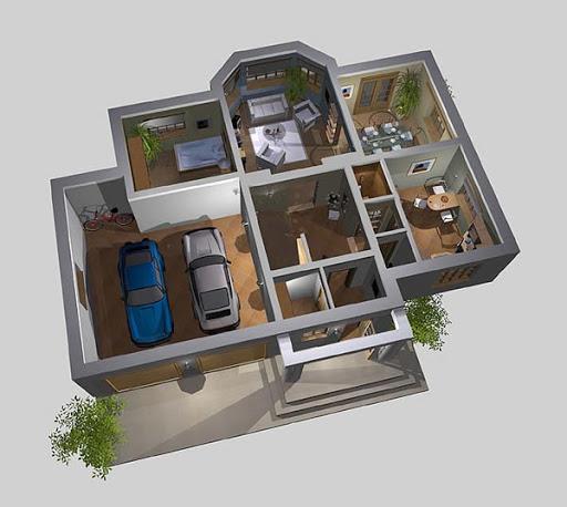 APS 042 - Rzut parteru 3D