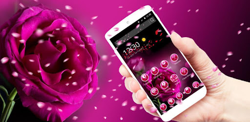 Fresh Purple Rose Launcher app (apk) free download for Android/PC/Windows screenshot