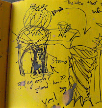 Photo: I doodle a lot of tiny scribbles - this one was the idea for the ceramic stand