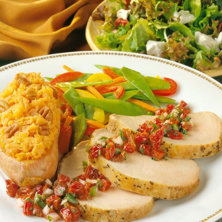Peppered Pork Roast with Cherry Salsa Recipe