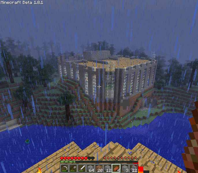 Photo: View of my house from the top of my tower