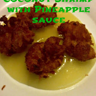 Coconut Shrimp with Pineapple Sauce.