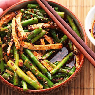 Sichuan-Style Asparagus and Tofu Salad