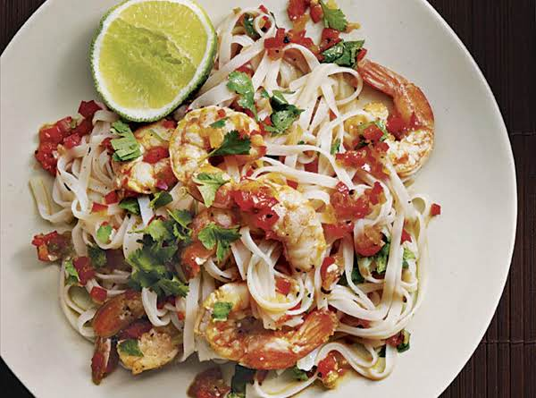 Rice Noodles With Shrimp And Cilantro Recipe