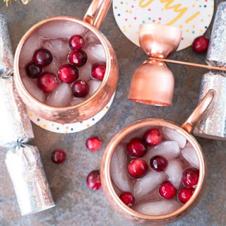 Cranberry Pomegranate Champagne Mule.