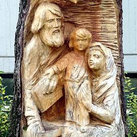 Sacra Famiglia in legno by Patrizia Emiliani - Artistic Objects Other Objects ( legno, sacra famiglia,  )