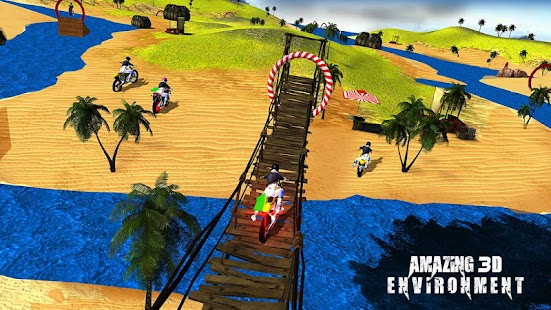 Beach Water Surfing Games: Bike Race - náhled