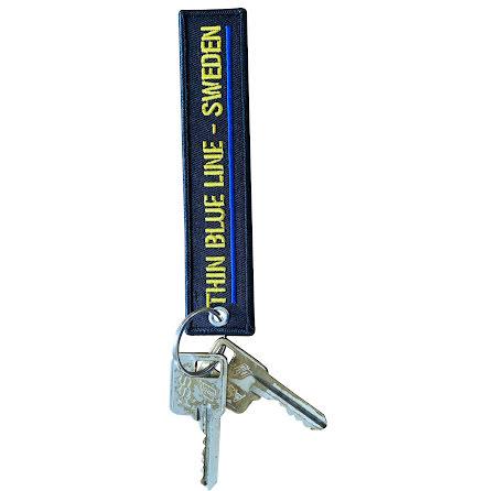 Nyckelband broderat med nyckelring