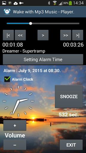 Wake with MP3 Music AlarmClock