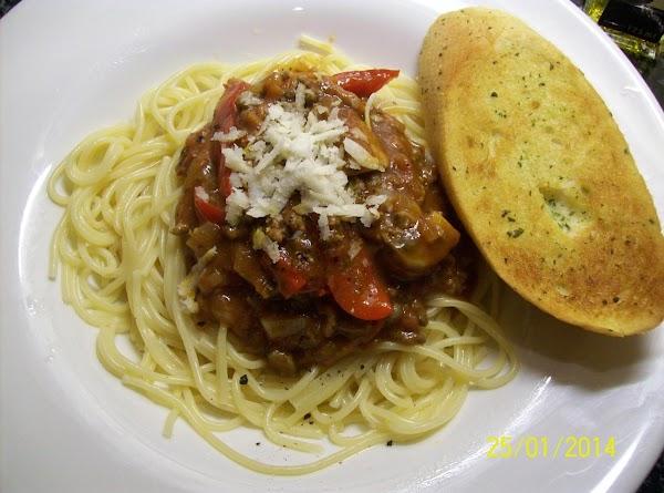 Spicy Spaghetti Bolognese  My Way ..   :) Recipe