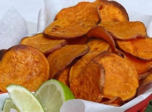 "Sweet Potato Chips With a Hint Of Lime ""I made these and..."