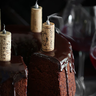 Chocolate Red Wine Chiffon Cake