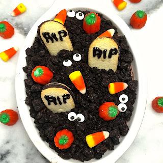 Graveyard Chocolate Cheesecake Dip