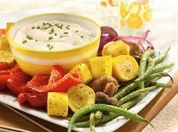 Grilled Garden Vegetables With Spinach Dip Recipe