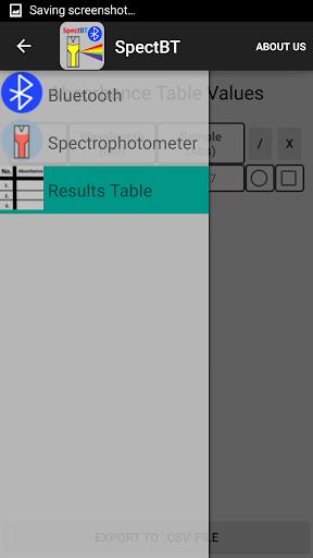 SpectBT- Spectrophotometer App