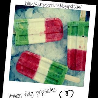 Italian Flag Popsicles! ♥