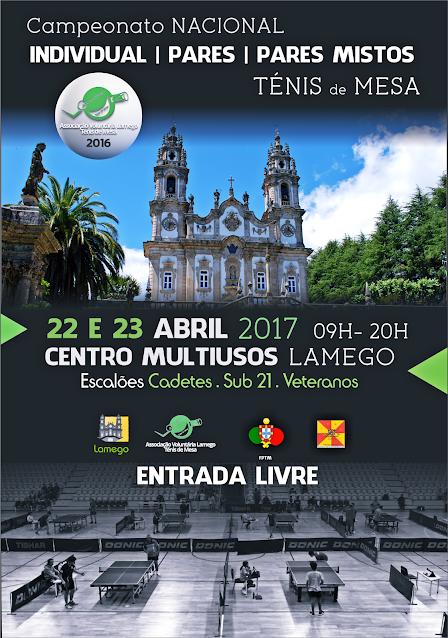 Campeonato Nacional de Ténis de Mesa - Lamego - 22 e 23 abril