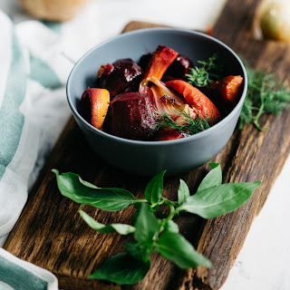 Roasted Rosemary Beets and Carrots Recipe