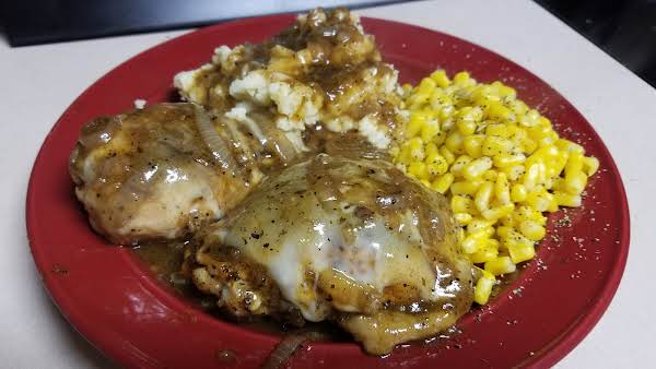 French Onion Chicken Thighs With Provolone Recipe