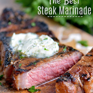 The BEST Steak Marinade.