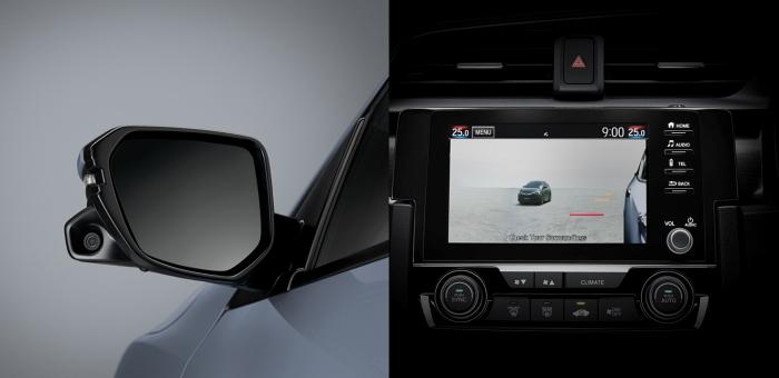 Honda Lanewatch แสดงภาพมุมอับของรถ