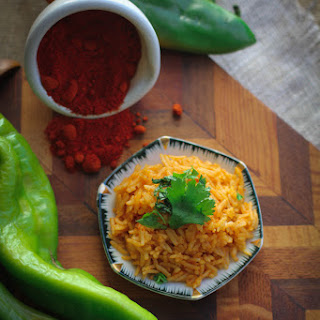 Rice Infused with Heirloom Chile Powder