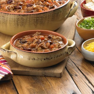 Hearty Two Bean & Sausage Chili.