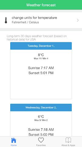android USA météo prévisions climat Screenshot 3