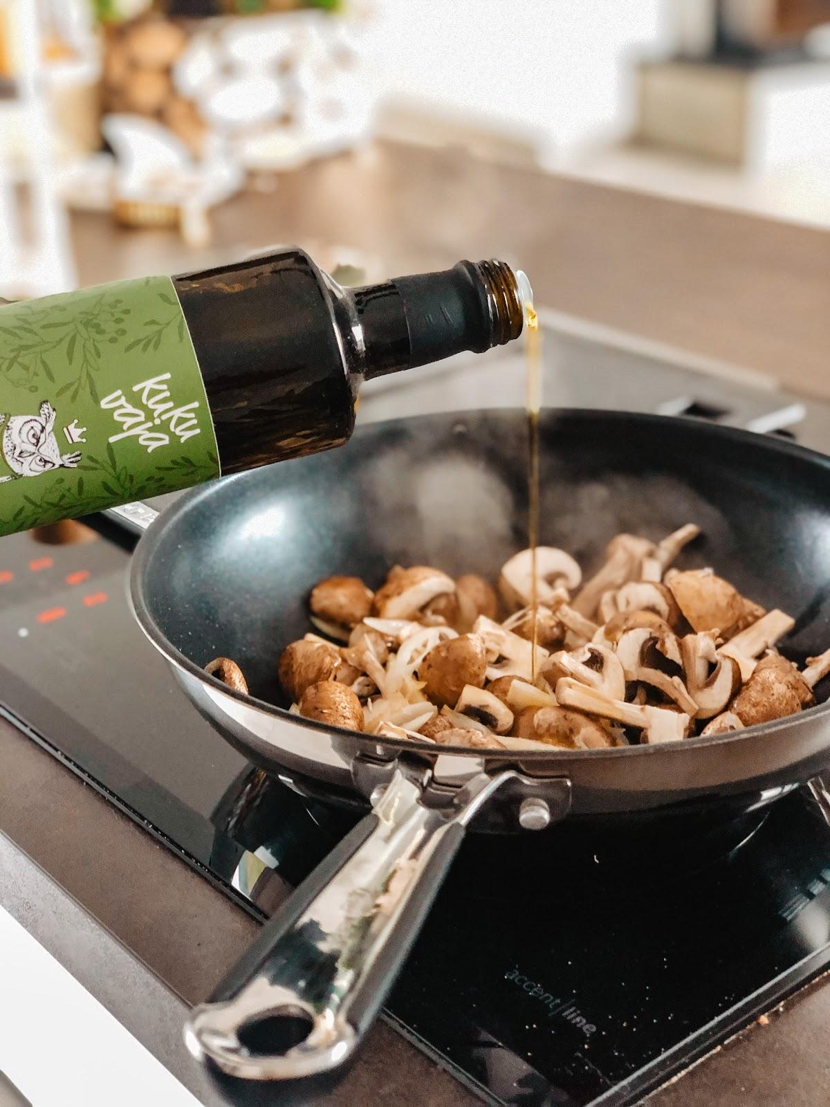 Kann ich mit nativem Olivenöl braten?