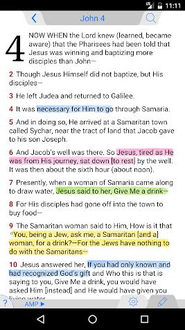 Amplified Bible Classic Edition Screenshot