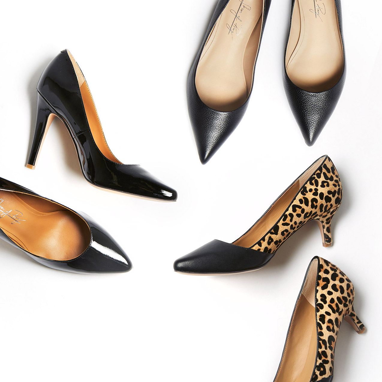 Black to work - 3 shoe styles for work