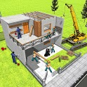 Modern Home Design & House Construction Games 3D icon