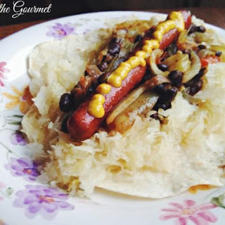 Hot Dogs with Black Beans and Sauerkraut