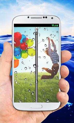 Transparent RainDrops ZipperLS