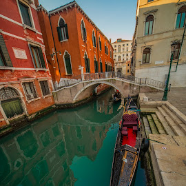 Venice by Yordan Mihov - Buildings & Architecture Public & Historical ( town, city, history, boat, building, gondola, venice, venezia, canal, bridge, arch, italy, architecture )