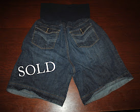 Photo: $60 Designer Maternity Denim Shorts. Size XL by American Star. EXCELLENT Shape. has the newest type of belly/waistband. $12 FIRM. Slightly wrinkly from tote.