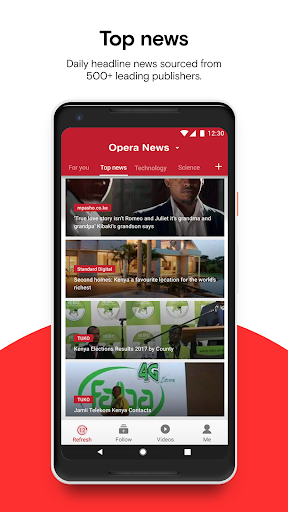 Opera News - Trending news and videos 4.1.2254.128479 screenshots 2